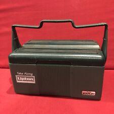 Vintage Lipton Take Along Aladdin Stanley Lunchbox Cooler