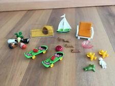 playmobil Zubehör Spielzeug für Kinder u. a. Skateboard, Hamsterstall, Segelboot