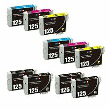 125 Black Color Ink Cartridge For Epson WF 320 325 520 NX125 127 130 230 420 530