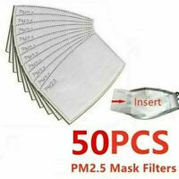 50Pcs Outdoor PM2.5 Activated Carbon Filter Face Cover