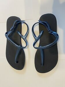 havaianas Blue Sling Back Size 37-38 New