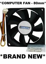 80mm Computer Cooling Fan w/Quiet Ball Bearing.3 Pin/Wire Plug Connector *NEW*