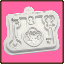 Katy Sue Designs DECORATIVE KEY & LOCKET Cake Crafting Mould CE0037