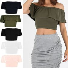Polyester Ruffle Tops & Shirts for Women