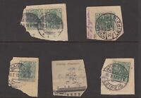 Germany circa 1914 stamps on piece