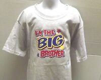 I'M The Big Brother Kids T-Shirt JERZEES BRAND Size 2-4 To 14-16