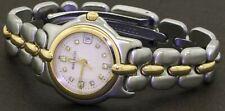 Bertolucci Pulchra SS/18K gold VS1/F MOP diamond dial ladies watch w/ date & box