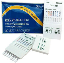 10 x DRUG TESTING KIT - 7 in 1 DRUG PANEL TEST TESTS USE @ WORK/HOME - FAST POST