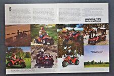Honda Fourtrax ATC ATV 3-Wheel All Terrain Vehicle 2 Page 1985 Vintage Print Ad