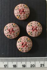 Very sweet vintage painted buttons.  Haberdashey 40s 50s 60s