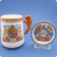1937 George VI Coronation Paragon Chocolate Cup & Cover