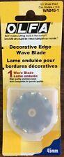 OLFA #WAB45-1 DECORATIVE EDGE WAVE BLADE 45MM- 1 REFILL PER PACK
