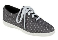 Easy Spirit AP1 athletic shoes sneakers canvas black polka dot  10.5  WIDE New