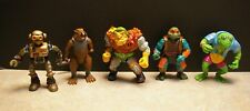 LOT OF 5 TMNT TEENAGE MUTANT NINJA PLAYMATES MIRAGE STUDIOS ACTION FIGURES