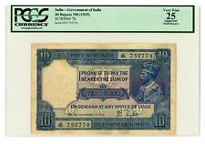 India ... P-7b ... 10 Ruppes ... ND(1925) ... *VF+* ... PCGS 25