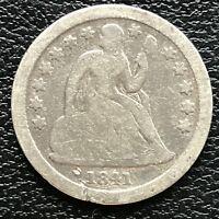 1841 Seated Liberty Dime 10c Rare Date Higher Grade #13347