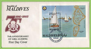 Maldives 1987 75th Anniversary of Girl Guides mini sheet on First Day Cover