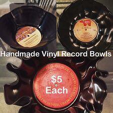 Handmade Decorative Vinyl Record Bowls
