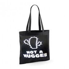 NOT A HUGGER Cotton Tote Bag Shopper Present Novelty Joke Funny Cuddle Cactus