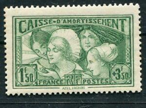 D183510 France MNH 1931 Sc. B38 Allegory French Provinces 1.50fr + 3.50fr Green