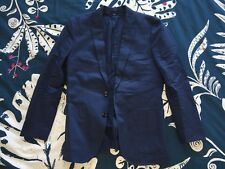 Mens J Crew Ludlow blazer Sport coat in Italian cotton 36S BLUE 2 Button