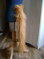 "Animal Tail Chestnut Luxury Faux Fur Long Pile 28"" Long Fab Fancy Dress Tail"