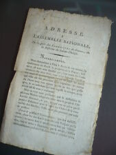 ADRESSE A L'ASSEMBLEE NATIONALE 1790 DES CARMELITES DE FRANCE STE THERESE