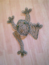 Balinese Metal Wire Green Frog Wall Ornament 50cm
