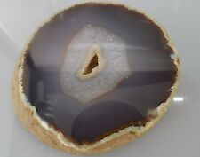 Agate Geode Druze Quartz Crystal Polished