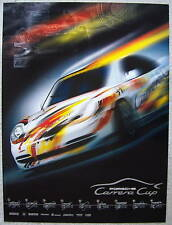 PORSCHE OFFICIAL 911 996 CARRERA CUP SCHEDULE FACTORY POSTER 1999