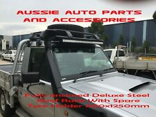 Toyota Landcruiser 70 Series Steel Fully Enclosed Roof Rack with tyre holder