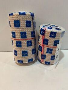 "(2) Medline Bandages Elastic Wrap, 3"" x 5 And 4''x 5 yd."