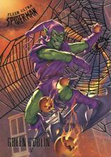 Spiderman Fleer Ultra 2017 Silver Parallel Base Card #96 Green Goblin
