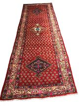 """Old Hand Knotted wool rug mo511 3'5""""x10'6& #034;"""