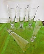 5 ~ 12 oz Clear Glass Footed Beer Pilsner Glasses > Home Bar - Man Cave <