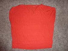 Caston orange v-neck top size XL