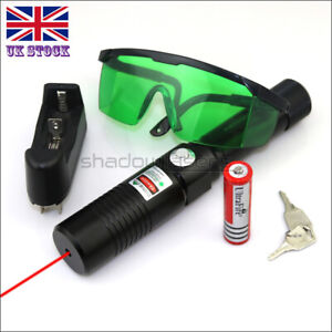 RX1-C 1MW 650nm Red Laser Pointer Powerful Lazer Pen &Battery&Charger&Goggles UK
