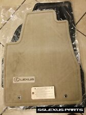 Lexus RX400H (2006-2008) OEM Genuine 4pc CARPET FLOOR MATS (Ivory / Tan)