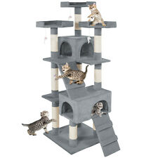 Rascador para gatos Árbol para gatos Sisal Juguetes gris nuevo