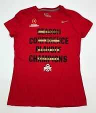 Womens Nike Ohio State University Buckeyes Red T-Shirt - Size M Slim Fit