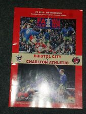 Bristol City v Charlton FA Cup 5th Round Match Programme 19th February 1994