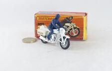 Matchbox Superfast MB33  Motard  Police Motor Cyclist NM/Boite (#A19)