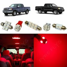 7x Red LED lights interior package kit for 2000-2004 Toyota Tundra TT2R