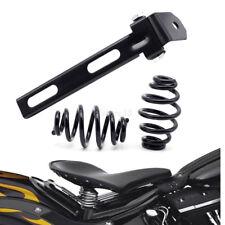 """3"""" Noir Moto solo selle siège + support ressorts Pr Harley Chopper Bobber Honda"""