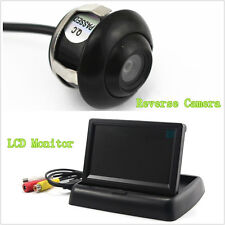 Waterproof 360°Rotatable Mini CCD Car Reverse Parking Camera LCD Screen For Ford