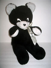 Vintage Rushton Black & White Teddy Bear