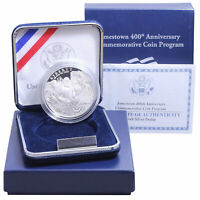2007 P Jamestown 400th Anniversary Proof Commem 90% Silver Dollar OGP US Coin