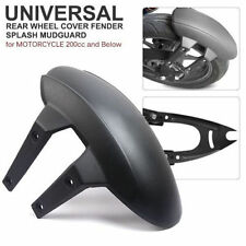Black PVC Motorcycle Rear Wheel Cover Fender Splash Guard Mudguard w Bracket