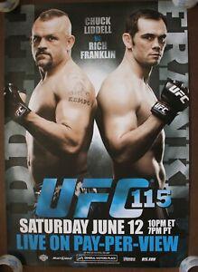 Official UFC 115 - Liddell vs Franklin Poster 27x39 (Near Mint)