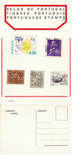 STAMPS OF PORTUGAL ON AN UNUSED COLOUR  POSTCARD (c)